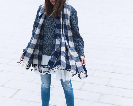 Boyfriend sweater and high heels