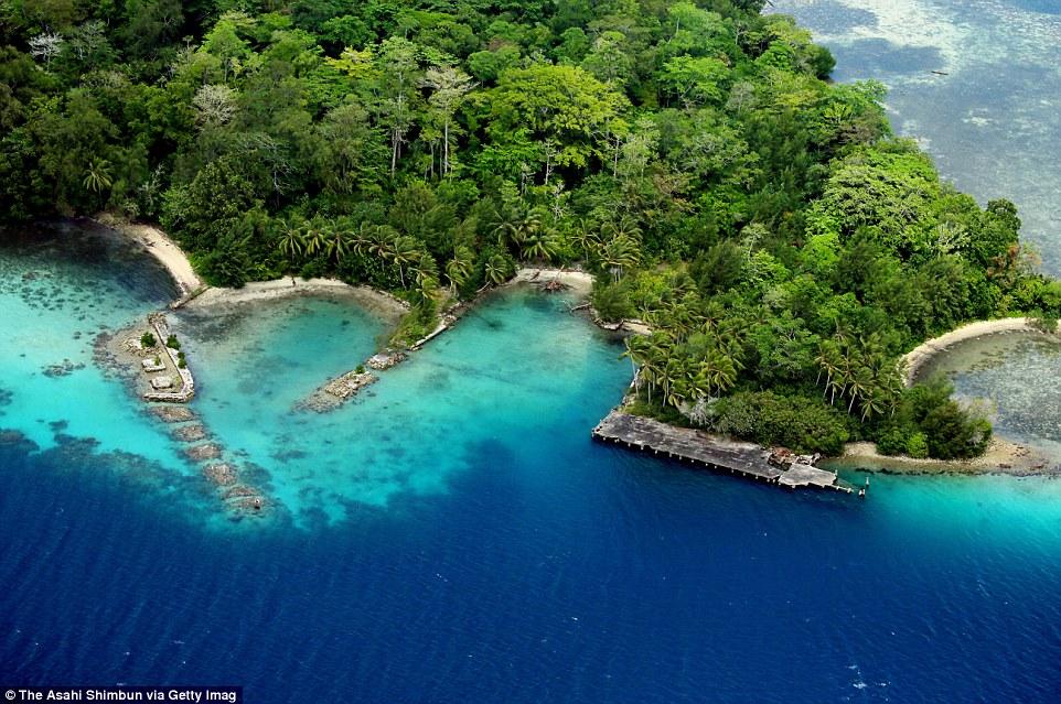 Japán hadikikötő maradványa a salamon-szigeteki Gavutu szigetén.