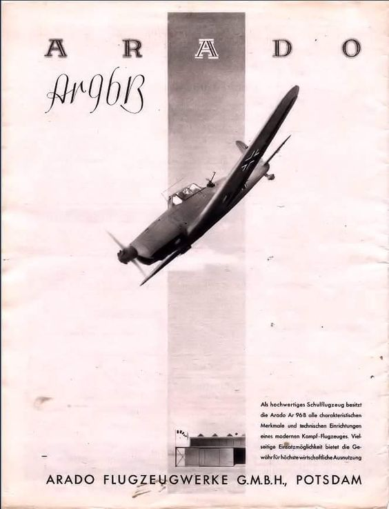 Az Arado Flugzeugwerke reklámja Ar 96 repülőgéppel