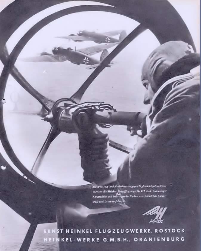 A Heinkel-Werke reklámja He 111 bombázókkal