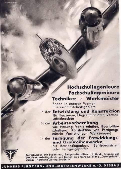 Junkers reklám Ju 88 bombázóval