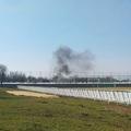 Az illegális gumiégetés vége megint ugyanaz lett: tűzoltóautó oltott!