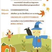 Remek programokkal várja a gyermekeket az őszi szünetben a bicskei Nagy Károly Városi Könyvtár!