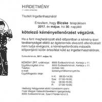 Kötelező kéményellenőrzés május 30-tól Bicskén!
