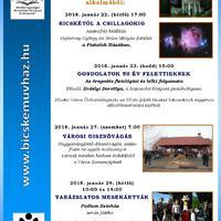 Bicskei csillagászok kiállítása és Városi Disznóvágás a januári programkínálatban!
