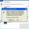Facebook figyelmeztetés