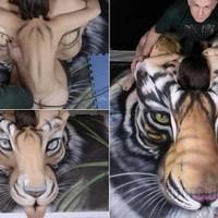 Tigris meztelen nőből