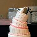 Stílusos esküvői torta
