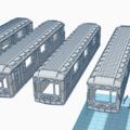 Metrokocsik modellezve és 3D nyomtatva