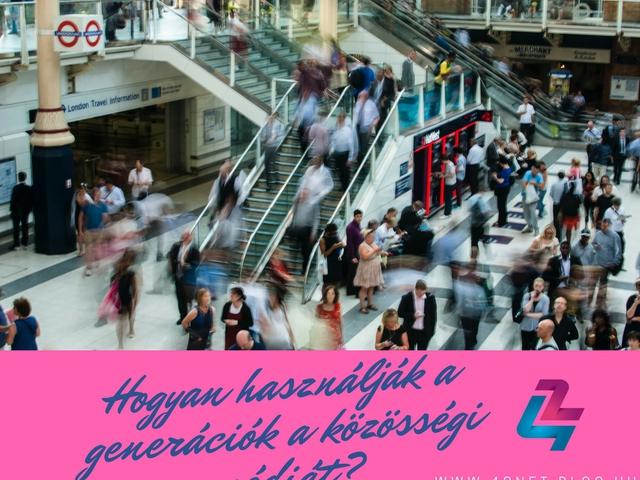 Hogyan használják az egyes generációk a közösségi médiát?
