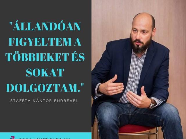 """""""Próbálok a megszokottól eltérő inputokat szerezni"""" - Staféta Kántor Endrével"""