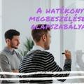 A hatékony megbeszélések alapszabályai