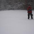 A malom-völgyi táborhely télen