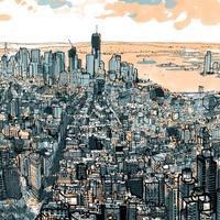 Kézzel rajzolt Manhattan