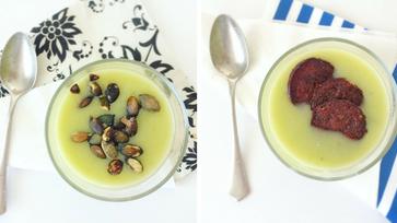 Póréhagymás burgonyaleves kétféleképpen