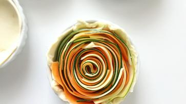 Mini zöldséges spirálpiték, már majdnem tavasz!