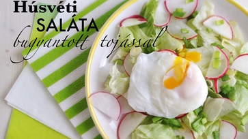 Húsvéti saláta buggyantott tojással