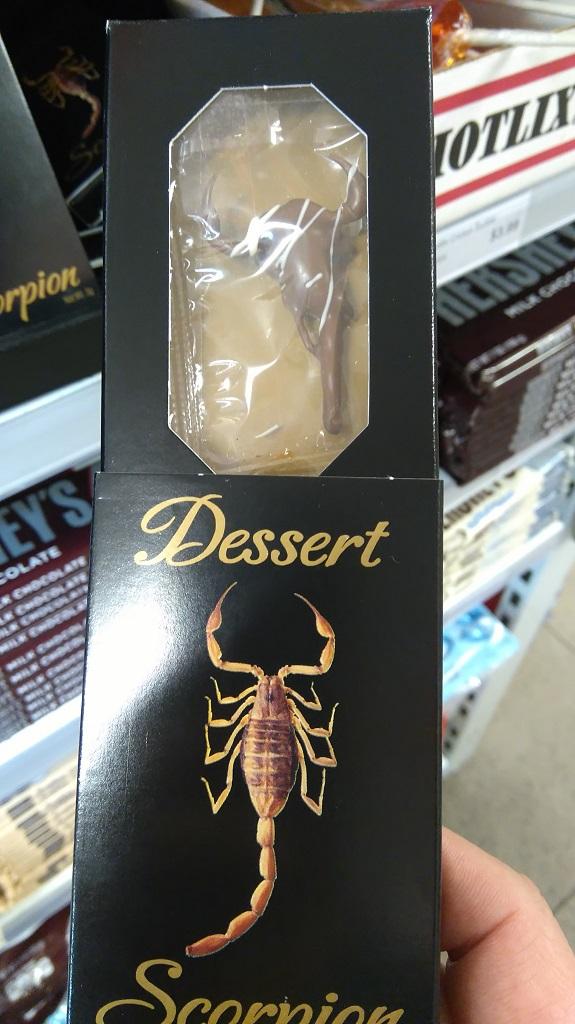 Csokis skorpió, ezt annak a számlájára irom, hogy hallowen időszak volt.