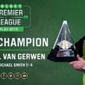 Michael van Gerwen negyedjére hódította el a Premier League trófeáját