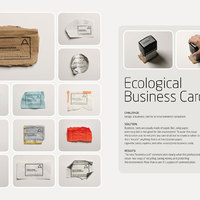 Környezetbarát névjegykártya