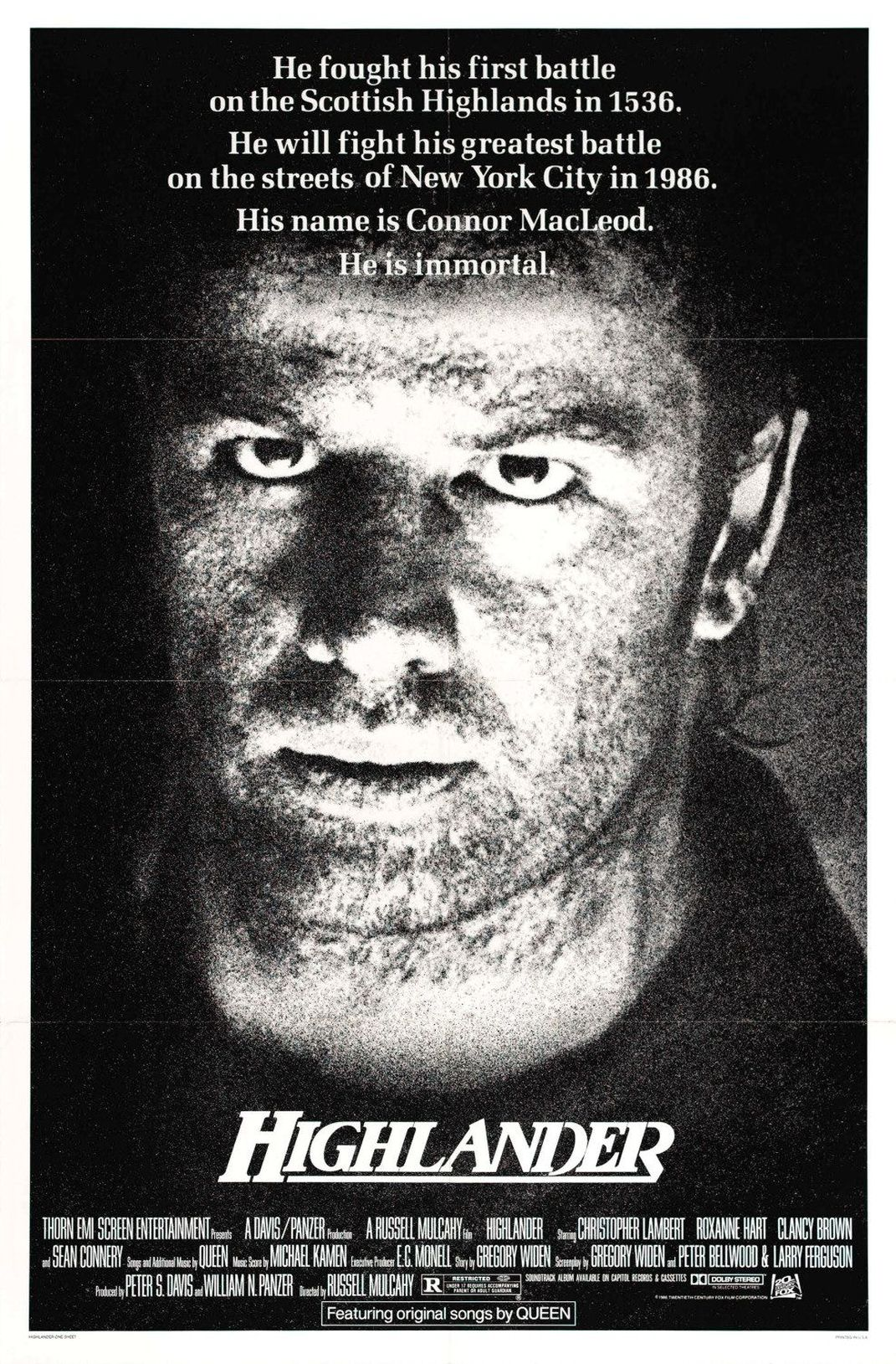 felújított 4k trailer + eredeti és magyar poszter: hegylakó [highlander] (1986)