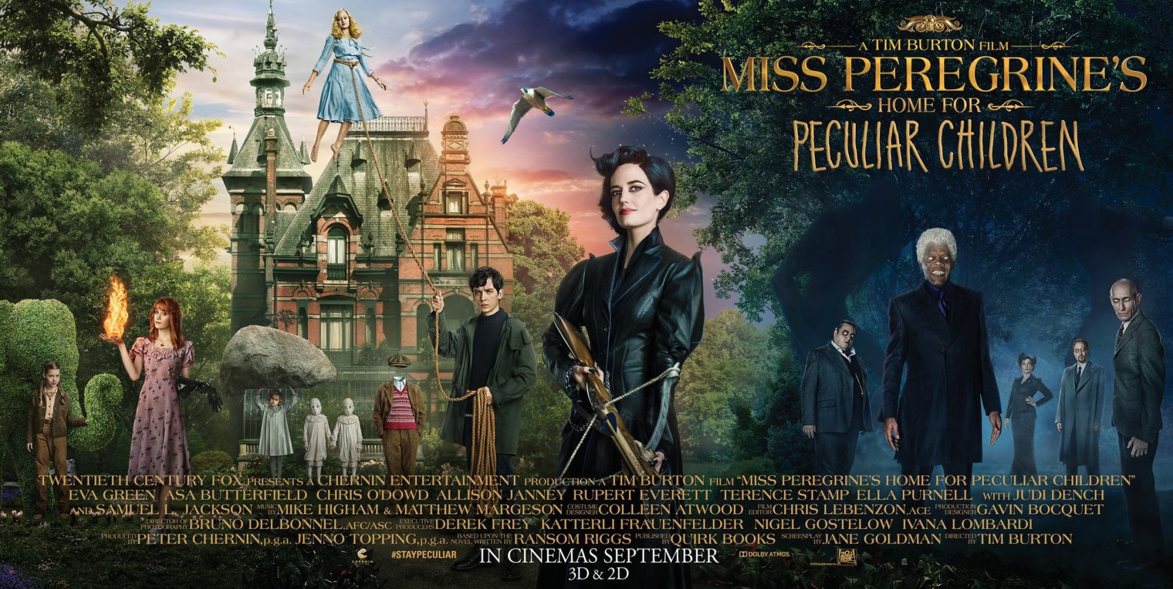 trailer + galéria: vándorsólyom kisasszony különleges gyermekei [miss peregrine's home for peculiar children] (2016)