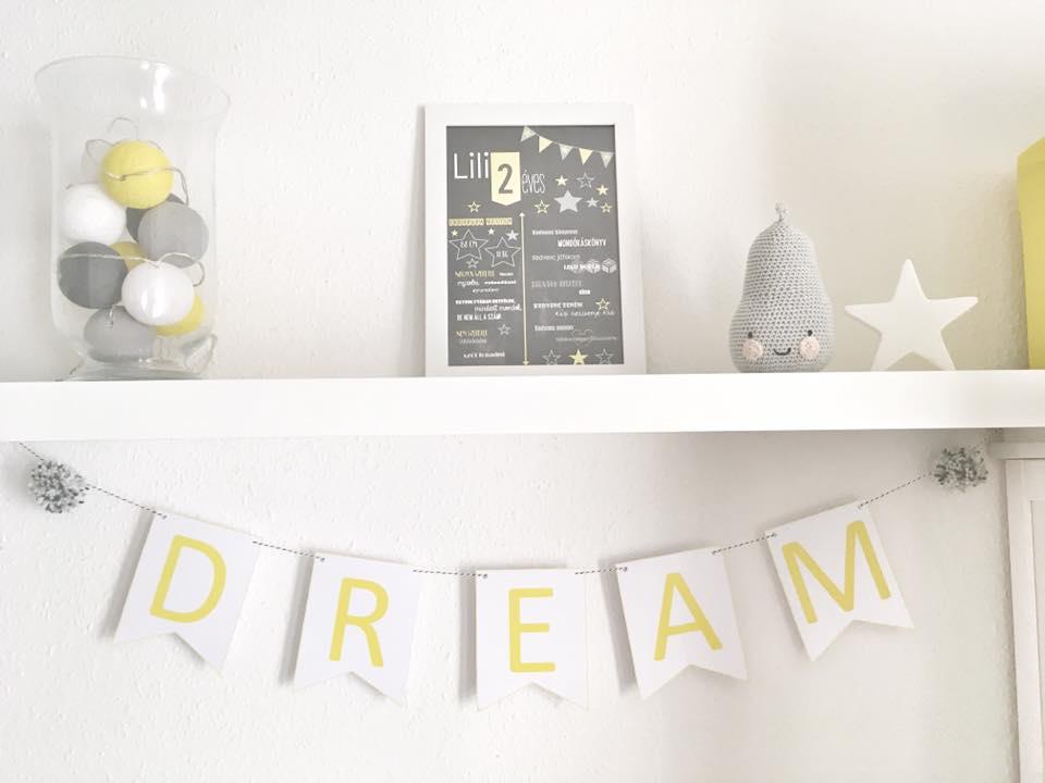 Dream - szürke és citromsárga kivitelben - ForHerblog