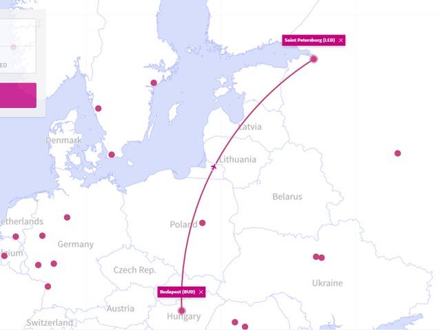 Új járat Budapestről: Szentpétervár