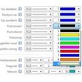 Pozíciószám, pozíciókeret és pótszöveg toll és szín beállítása