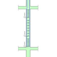Vasfelirat: pillér kengyelek külön méretvonalakon, belül