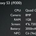 Samsung Galaxy SIII videón