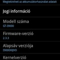 Hivatalos (XWJVH) Gingerbread (2.3.3) Samsung Galaxy S-re