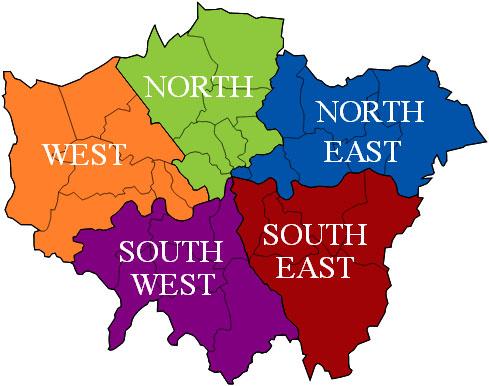 Angol Ingatlan - London részei