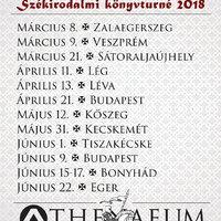 Székirodalmi turnéplakát 2018