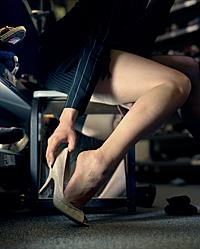 The voyeur at the Shoe Store by ~elaistedcom
