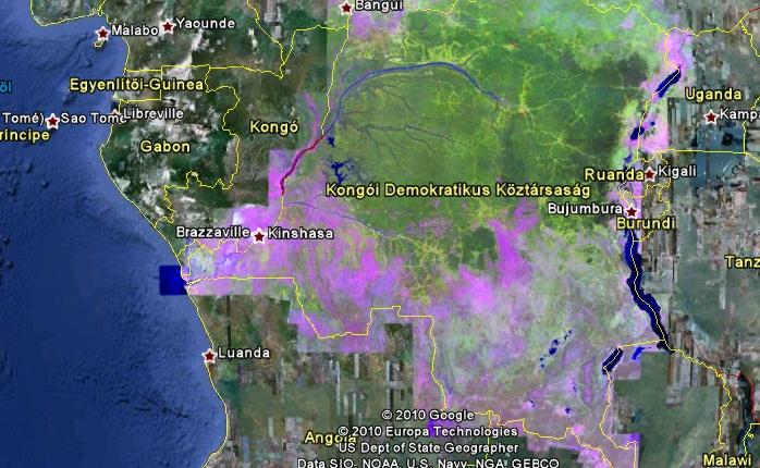 Erdőirtás a Kongóban