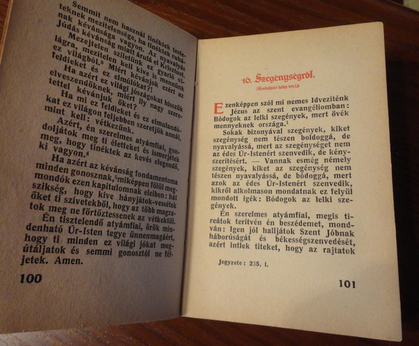 Egy oldalpár A jó élet módja c. könyvből (Szent István Társulat, 1943.)