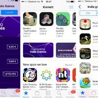 Indie fejlesztők játékait nyomja az App Store