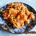 Rizses hús zöldborsóval és kolbásszal