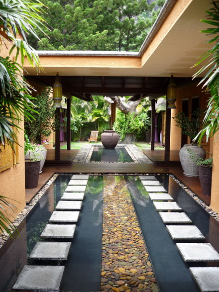 Hangulatos bels kertek elb v l zugok magyar n magazin for Courtyard designs with spa