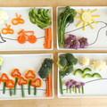 Gyereknapra zöldség-megszerettető tányér