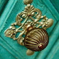 Napi inspiráció: türkiz ajtó