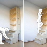 2 in 1: szekrény lépcsőből