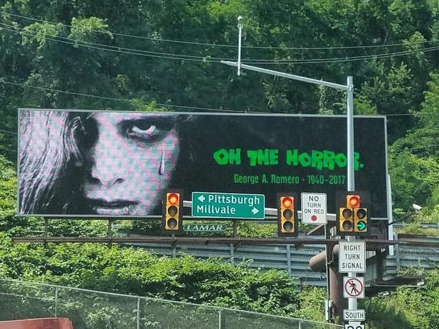 Giga Romero-emlékplakát Pittsburghben