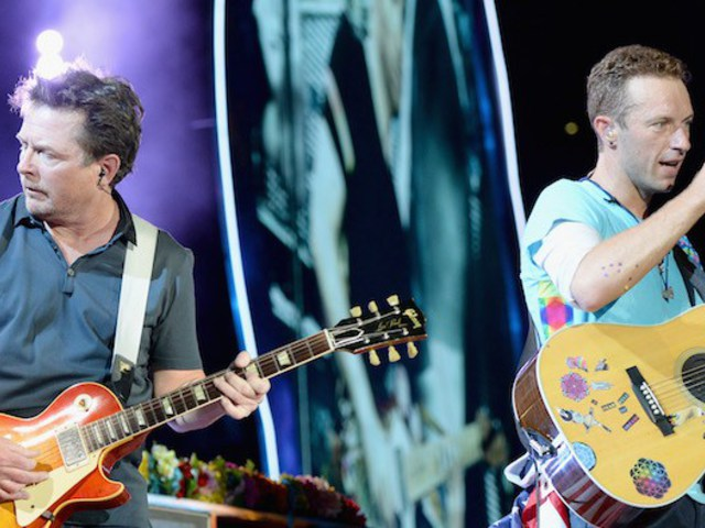Michael J. Fox fellépett a Coldplay-jel