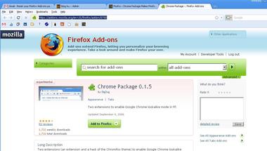 Chrome külső Firefoxra
