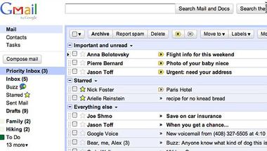 Fontos levelek (Priority Inbox) - ezért szeretjük a Gmailt