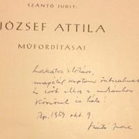 Szántó Judit (1903-1963) dedikációja