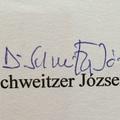 Schweitzer József (1922-2015) főrabbi aláírása