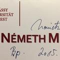 Németh Miklós volt miniszterelnök dedikációja